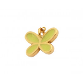Colgante Mariposa Esmalte Oro Amarillo 18 Kts. modelo pequeño