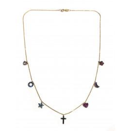 Gargantilla Love Oro 18 Kts (750 m/m) 7 Amuletos