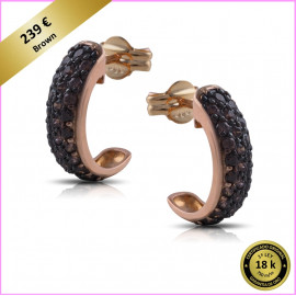 PENDIENTES ARO EXOTIC ORO ROSA 18 Kts. (750 m/m) BROWN