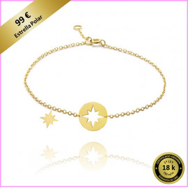 PULSERA LOVES SECRET ESTRELLA POLAR ORO AMARILLO 18 Kts.