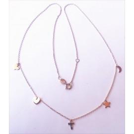 Gargantilla Love Oro 18 Kts (750 m/m) 5 Amuletos