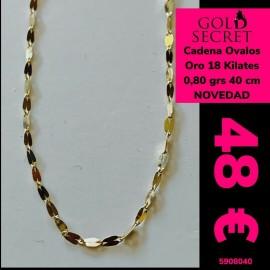 Cadena Motivos Ovales Oro 18 Kilates 40 Cm
