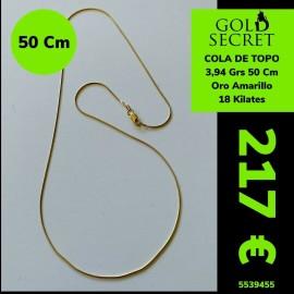 Cadena Cola de Topo 50 cm Oro 18 Kilates