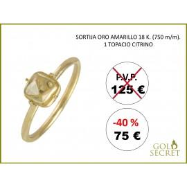SORTIJA SWEET ORO AMARILLO 18 Kts. - CITRINO