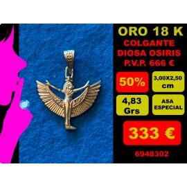 COLGANTE DIOSA OSIRIS ORO 18 KILATES