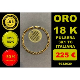COLLAR 3X1 ORO 18 Kilates 5,00 mm 20 cm