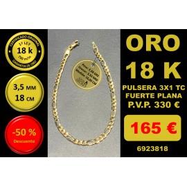 COLLAR 3X1 ORO 18 Kilates 3,50/3,80 mm 18,00 cm
