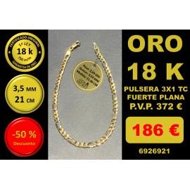 COLLAR 3X1 ORO 18 Kilates 3,50/3,80 mm 21,00 cm