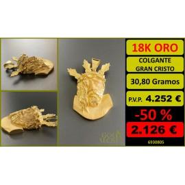 COLGANTE GRAN CRISTO ORO 18 KILATES