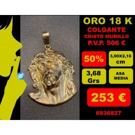 COLGANTE CRISTO DE MURILLO GRANDE ORO 18 KILATES