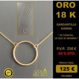 GARGANTILLA KARMA ORO AMARILLO 18 K.