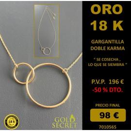 GARGANTILLA KARMA DOBLE ORO AMARILLO 18 K.