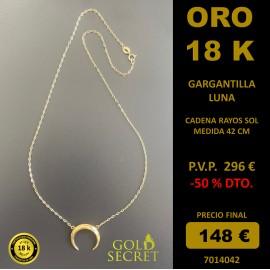GARGANTILLA LUNA ORO AMARILLO 18 K.